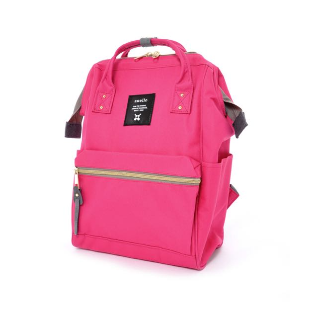 b68e65accc8 Preorder: Anello Polyester Large Backpack AT-B0193A Hot Pink, Bulletin  Board, Preorders on Carousell