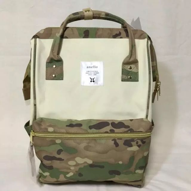 8d7f3996e51 Preorder: Anello Polyester Large Backpack AT-B0193A White/camo, Bulletin  Board, Preorders on Carousell