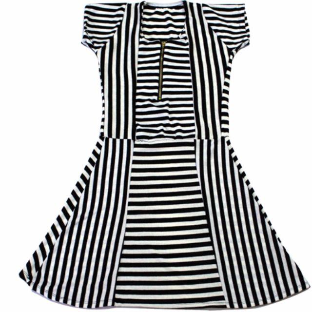 🌺NEW🌺RHB-D005 - Skater Dress in Black and White