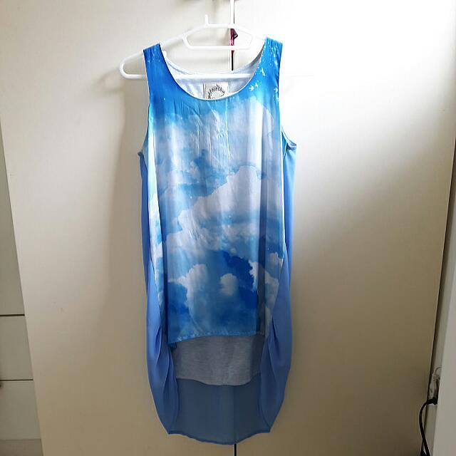 Salad雲朵藍天上衣#一百元上衣