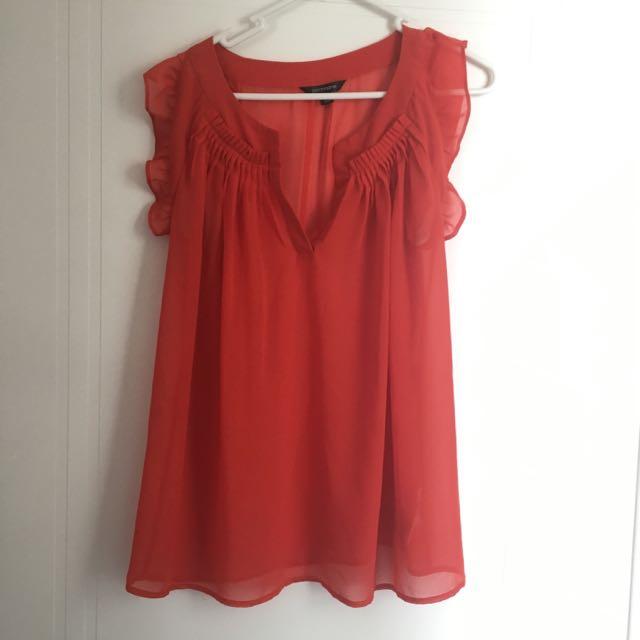 Sheer Red Portmans Top Size 8