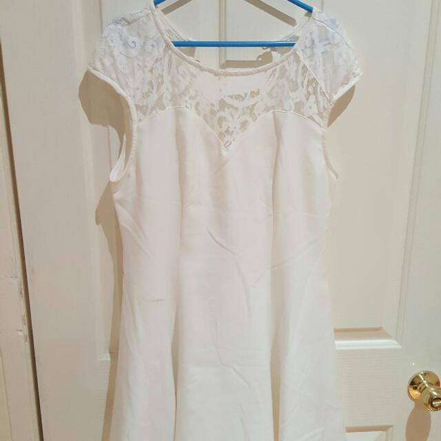 Size 12 White Lace Dress