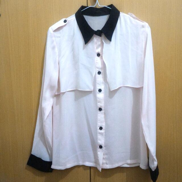 Soft Pink Shirt Made In Bangkok