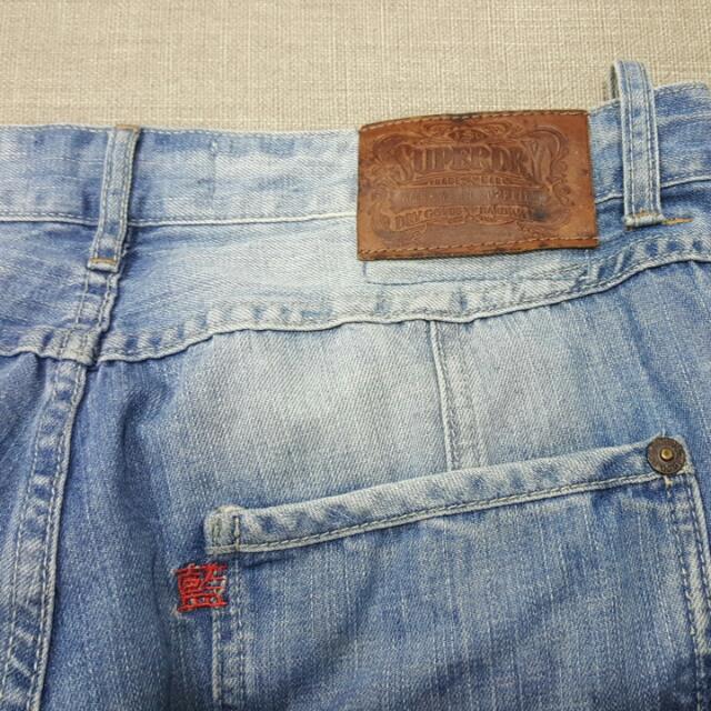 Superdry寬版牛仔褲