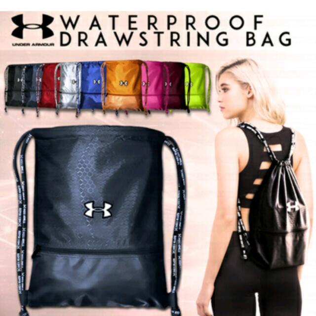 08f4d96bbb 🎒☔ UNDER ARMOUR Waterproof Drawstring Bag ☔🎒