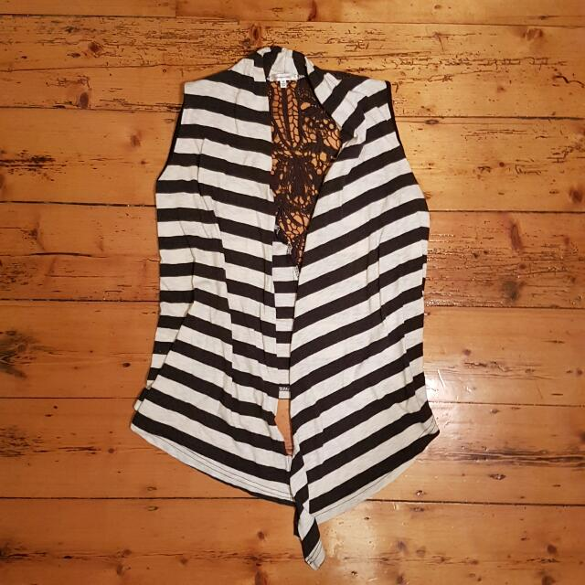 Valley Girl Striped Vest