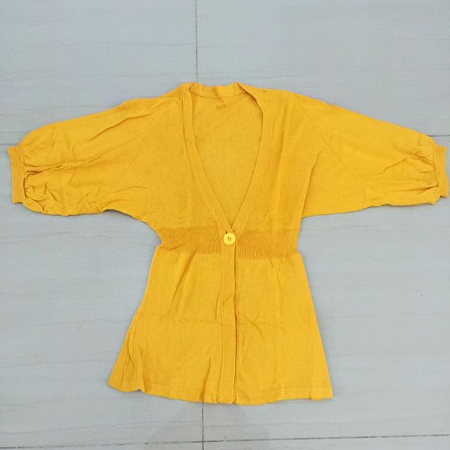 Yellow Knitted outer