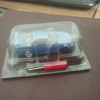 🚚 NISSAN SKYLINE GT-R 組裝模型廻力玩具車 藍色