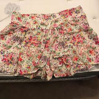 H&M High waisted Floral Shorts