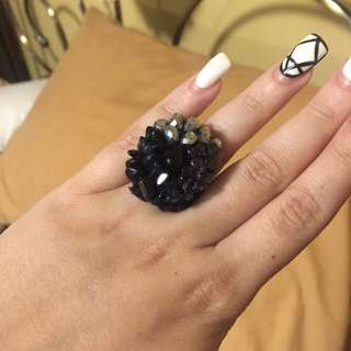 Handmade Jewel And Crochet Ring