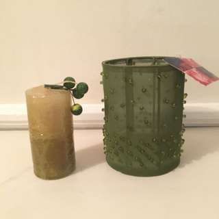 Candle Holder + Candle