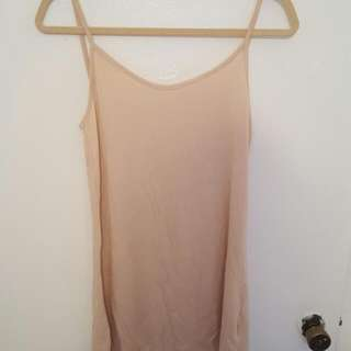 Short Nude Slip Dress