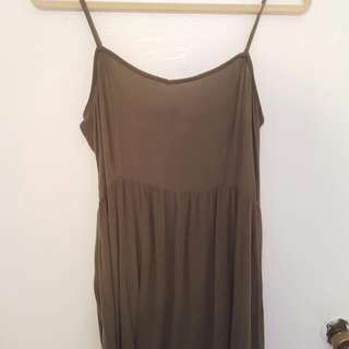 Khaki Green H&M Dress