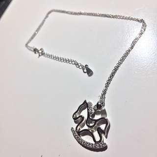 Hobbyhorse Silver Necklace