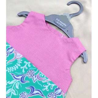 Dress Batik Bayi Purple