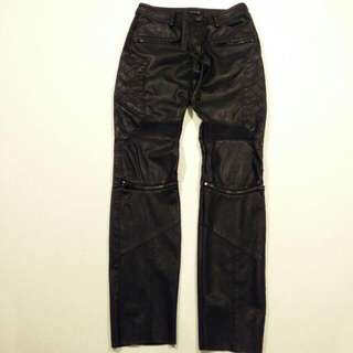 Zara Leather Moto Pants (Size XS)