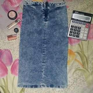 Pull & Bear denim  pencil cut skirt