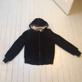 Ransom Suede/Shearling bomber Jacket Size M