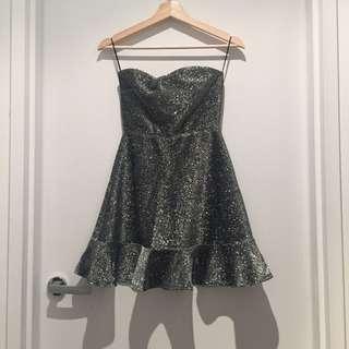 Topshop silver dress size 8