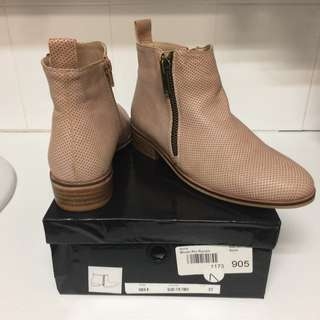 Size 37 - Iconic Blush Pin Punch Ankle Boots