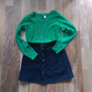 UK4/6 Green Knit Top