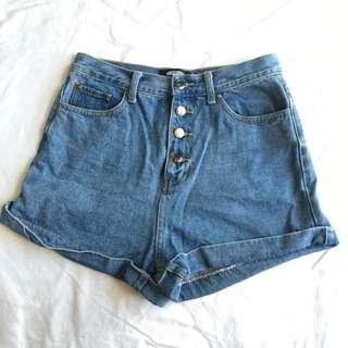 Missguided High Waisted Mom Denim Shorts