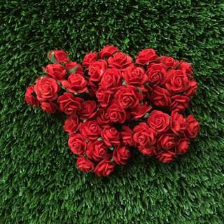 50 Red Roses Mulberry Paper Flowers