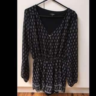 Black Jumpsuit Long Sleeve