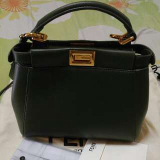 Auth Fendi Peekaboo Mini