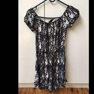 Off The Shoulder Patterned Dress