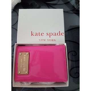 Authentic Kate Spade Passport Holder Pink in Box