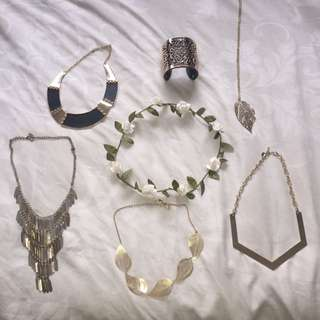 7 Pieces For $15!! Gold Costume Jewellery !!