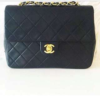 Chanel Vintage 24kt Lambskin Mini Flap