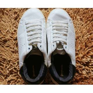 stradivarius basic sneakers white