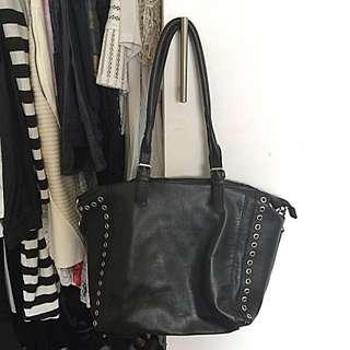 Sportgirl Black Faux Leather Bag