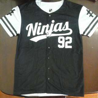 B&W Baseball Shirt