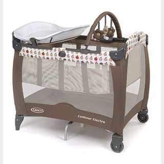 PL Graco contour electra apple playpen
