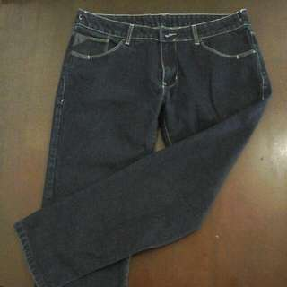 Blue Straight Denim Jeans