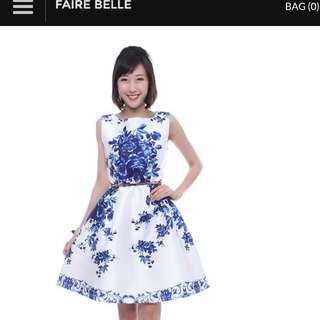 Fairebelle Porcelain Blue Dress (Size:M)