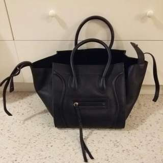 Black Celine phantom tote