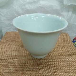 80年代仿古清代光緒白釉酒杯茶杯