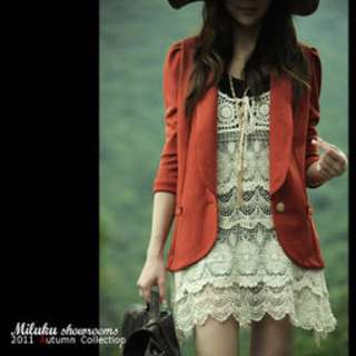 Miluku Showroom 顯瘦七分袖西裝外套