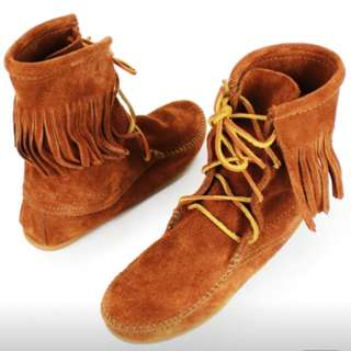 美國Minnetonka好萊塢女星必備款經典中筒靴