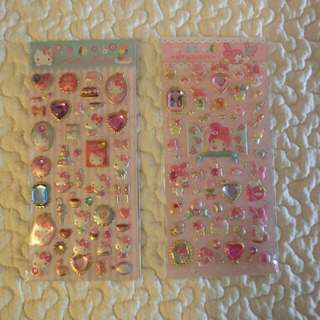 Hello Kitty And MY Melody Stickers