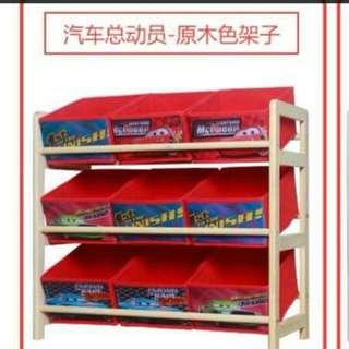 👩預購品 👩三層布抽玩具架