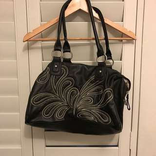 Fiorelli Genuine Black Back With Embroidered Front