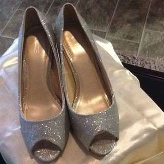 Betts Silver Sparkly Formal/wedding Shoes