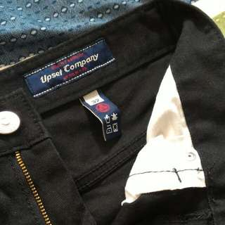 Upset Company 黑色直桶長褲 32腰
