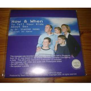 Christian CD on 'How & When To Tell Your Kids About Sex' (Brand New)