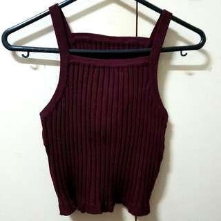 Ribbed Crop Top Size S